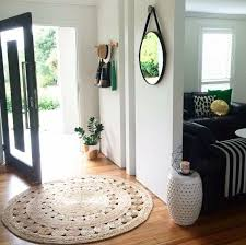 Design Ideas For Half Circle Rugs Simple Entryway Room With Kmart Jute Rug And