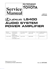 pioneer lexus sc430 fx mg8156 mg8317 crt2585 service manual