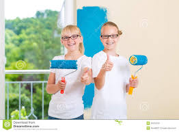 painting a wall kids painting wall stock photos royalty free pictures