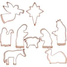 nativity cookie cutter 9 set