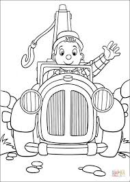 noddy car coloring free printable coloring pages