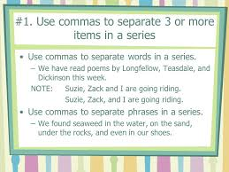 comma rules ppt download