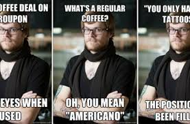 Meme Coffee - foodista hipster barista meme pokes fun at coffee shop workers