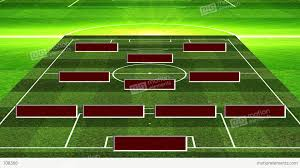 3d soccer lineup 4312 stock animation 708366