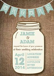 jar wedding invitations jar wedding invitations diy rustic wedding via etsy but