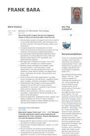 director of information technology resume samples visualcv