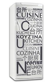 stickers pour cuisine d馗oration sticker frigo cuisine en différentes langues