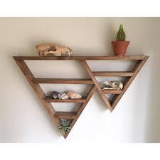 Wall Shelves Box Triangle Shelf Crystal Shelf Shadow Box Wood Shelf