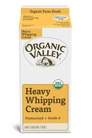 heavy whipping cream pasteurized pint buy organic valley near you