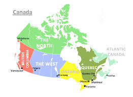 Canada Map by Canada Map With Provinces And Capitals List Best Political Map Of