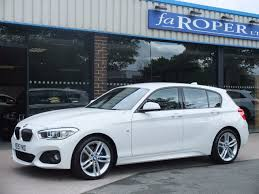 white bmw 1 series sport used bmw 1 series 125d m sport 5 door auto leather media pack