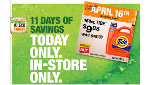 home depot thursay deals black friday tide laundry detergent coupon 0 09 per load at home depotliving