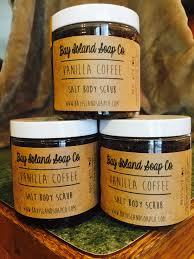 vanilla coffee salt body scrub u2013 bay island soap company