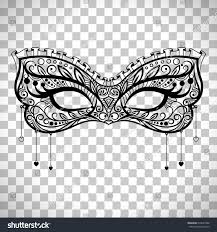 elegant carnival mask black ornate lace stock vector 674667286