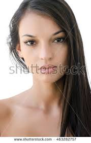 attractive middle aged women dark hair portrait beautiful brunette girl attractive young stock photo