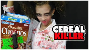Scary Halloween Costumes Girls Kids Cereal Killer Warning Scary Kids Jayla U0027s Halloween Costume
