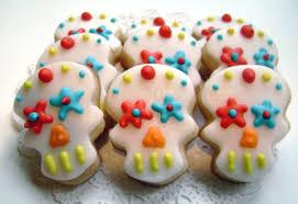 mini sugar skull sugar cookies day of the dead