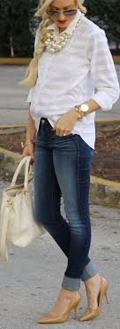 necklace with white shirt images 202 best style white tops images casual wear jpg