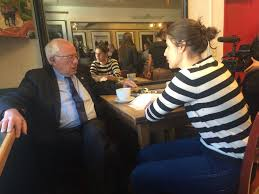 Bernie Sanders New House Pictures by Sanders Surprises Flagstaff Coffee House Patrons Tuesday Morning