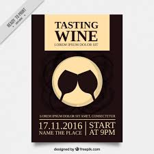 nice brochure for a wine tasting vector free download