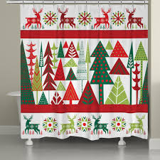 geometric christmas shower curtain u2013 laural home