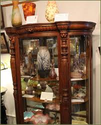 old glass doors curio cabinet cur10615io11 curved glass curio cabinets for