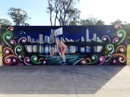 city of gold coast graffiti projects and murals colourful community mural in parkwood