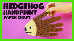 handprint hedgehog craft fall crafts for kids youtube