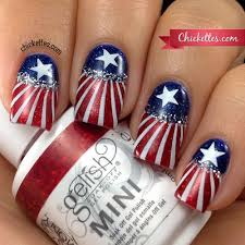 4th of july u2013 chickettes soak off gel polish swatches nail art