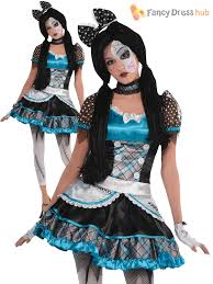 girls broken doll costume teen halloween fancy dress kids