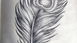 simple drawing of a feather how to draw a feather youtube