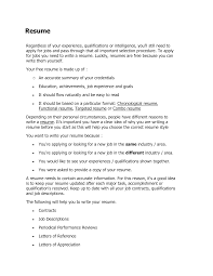 How To Write Summary Of Qualifications How Do Do A Resume Resume For Your Job Application