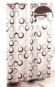 Circles Shower Curtain Ez On No Hook Brown Circles Shower Curtain With Free Shipping