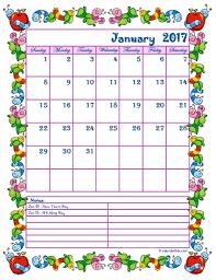 2017 monthly calendar template kid kindergarten kid free pictures