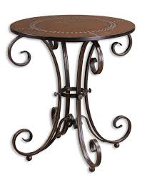 uttermost accent tables uttermost lyra round accent table 26111