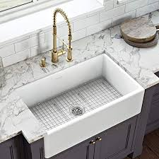 what size sink for 33 base cabinet ruvati 33 x 20 inch fireclay reversible farmhouse apron front kitchen sink single bowl white rvl2300wh