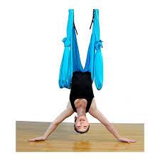 pellor deluxe flying yoga hammock for aerial yoga hammock blue