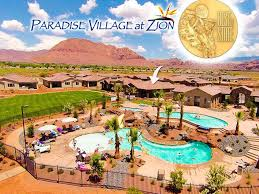 pool side home at paradise village at zion vrbo
