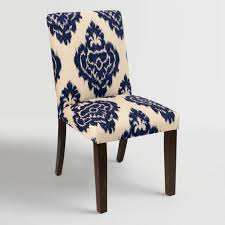 Blue Upholstered Dining Chairs Blue Kerri Upholstered Dining Chair World Market