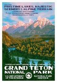 Wyoming travel posters images National parks posters google search see america national jpg