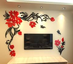 online get cheap living room tv wall aliexpress com alibaba group crystal three dimensional wall stickers living room tv wall acrylic 3d sofa background flower vine