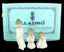 vintage lladro miniangelitos 1604 set 3 figurines