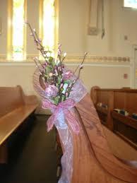 Wedding Pew Decorations Diy Wedding Decorations For Pews Preview Diy Church Decor