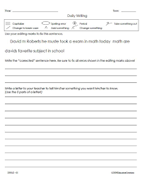 writing skills free samples from education creations