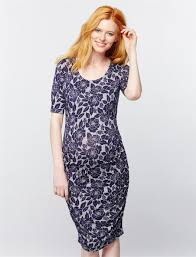 ruched maternity dress navy floral a pea in the pod maternity