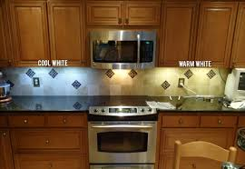 led lighting kitchen under cabinet led light color temperature warm vs cool white inspiredled blog