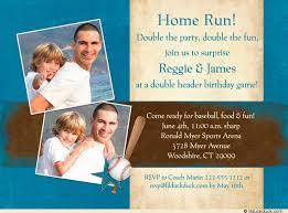 home run baseball photo invitation little boy birthday
