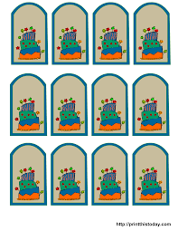 free printable birthday favor tags