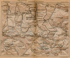 Pyrenees Mountains Map Pyrenees Mountains Map