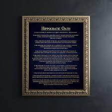 med school graduation gift school graduation gift gold foil print hippocratic med